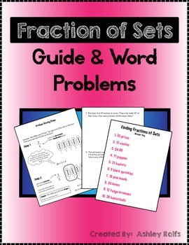 Fractions of Sets Word Problems & Reference