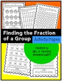 Fractions of a Group Activity Pages
