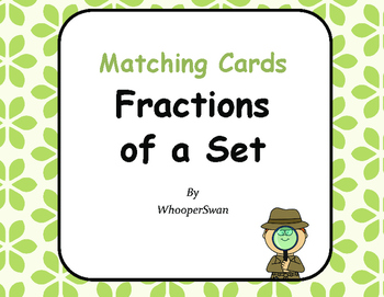 Fractions of a Set Matching Cards