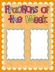 Fractions of the Week Worksheet