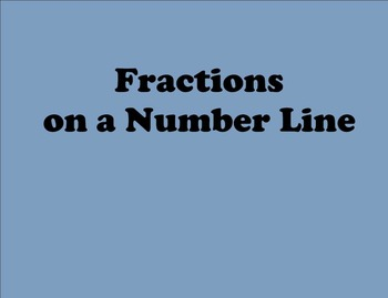 Fractions on a Number Line - CCLS
