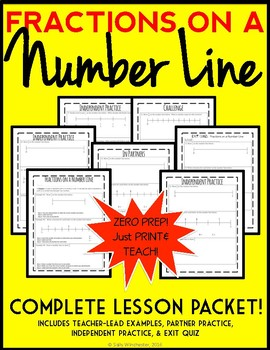 Fractions on a Number Line, Complete Lesson Packet: Guided