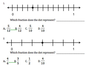 Fractions on a Number Line/Equivalent Fractions