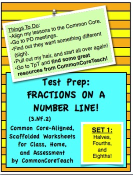Fractions on a Number Line: Fraction Set 1:... by CommonCoreTeach ...