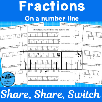 Fractions on a Number Line Share Share Switch