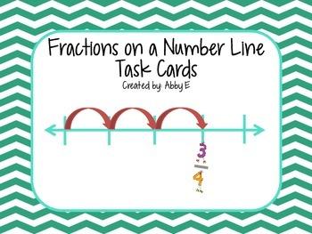 Fractions on a Number Line Task Cards 3NF2