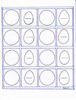 Fractions template eggs and pies first and second grade sp