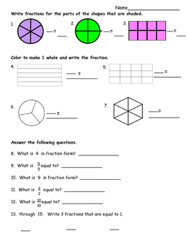 Fractions to Whole Numbers