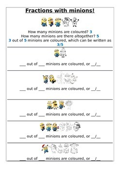 Fractions with Minions -