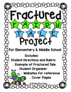 Fractured Fairy Tale Writing- Lesson on Perspective w/orga