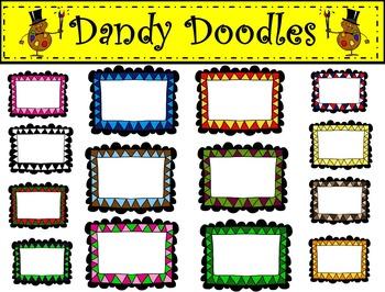Frame Frenzy Clip Art by Dandy Doodles
