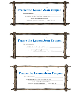 Frame the Lesson Jean Coupon