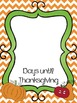 Frameable Thanksgiving Countdown