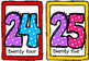 Framed Number Cards ,Number Puzzles and Apple Counters  (#s 0-50)