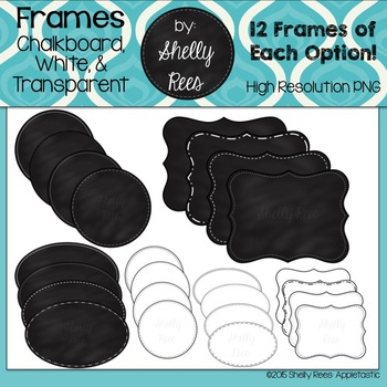 Frames - Chalkboard, White, and Transparent Variety Pack