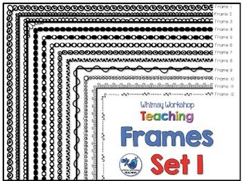 Frames Clip Art Set 1 - Whimsy Workshop Teaching