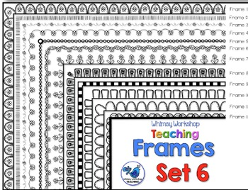 Frames Clip Art Set 6 - Whimsy Workshop Teaching