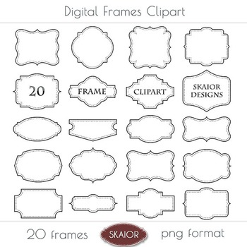 Frames Clipart Borders Clip Art Labels Tags Dotted Stitche