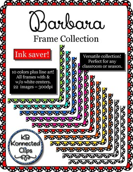 Frames! Colored Scallops with Black and White Trim