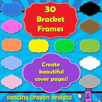 Frames: Cover Page Frames / Bracket Frames Clip Art