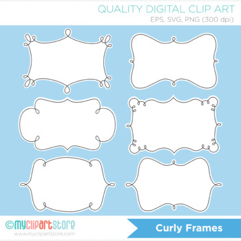 Frames - Curly / Swirly outlined frames