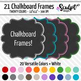 Frames ~ Dotted Chalkboard Frames ~ Twenty Colors