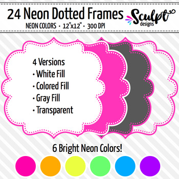 Frames ~ Dotted Frames ~ Neon Colors