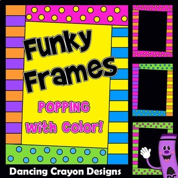Fun and Funky Frames | Bright and Colorful Borders Clip Art