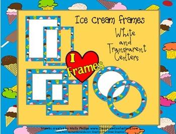 Frames/Borders {Commercial Use Ice Cream Clip Art Frames}