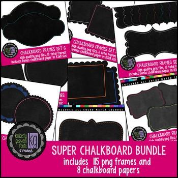 Frames: KG Chalkboard Frames BUNDLE Sets 1-8