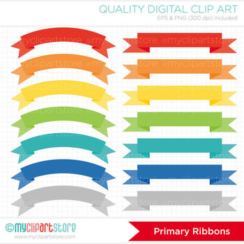 Frames - Ribbon Banners - Primary Colors