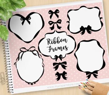Frames - Ribbons & Bows (pink & blue) / Princess frames