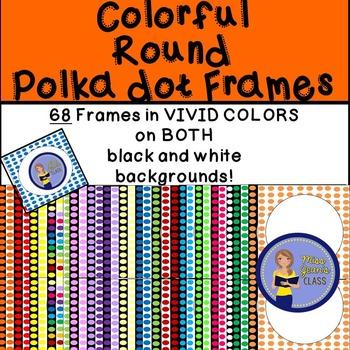 Frames - Round Bright Polka dot
