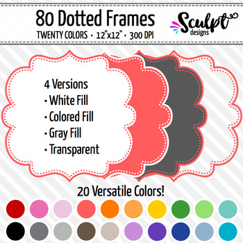 Frames ~ Dotted Frames ~ Twenty Colors