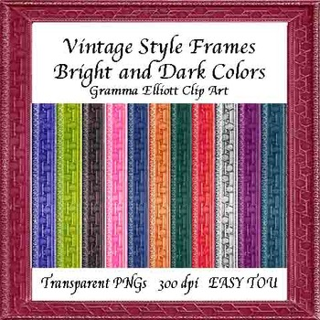 Frames - Vintage Style - Dark and Bright Colors