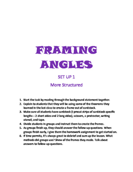 Framing Angles Class Project