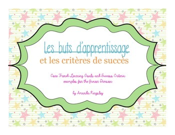 Français - Learning Goals and Success Criteria