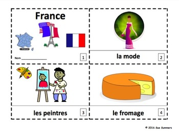 France Emergent Reader Booklets French Version - French Culture