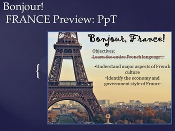 France Geography Lesson Plan High School