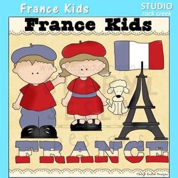 France Kids Color Clip Art C. Seslar