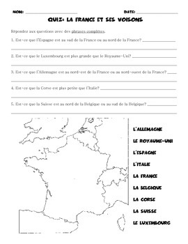 France and Bordering Countries: Quiz