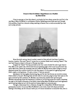 France's Mont St. Michel: Article and Questions