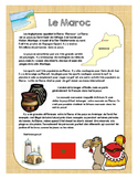 Francophone Culture Reading - Morocco - with questions and