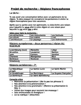 Francophone Region Research Project
