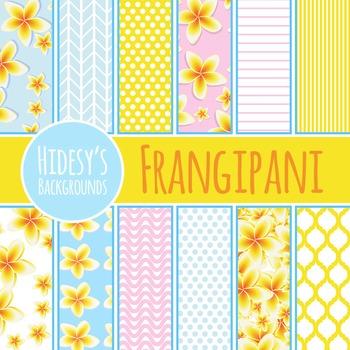 Frangipani or Plumeria Hawaiian Themed Backgrounds / Patte