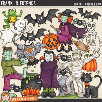 "Halloween Clip Art: ""Frank 'n Friends"""