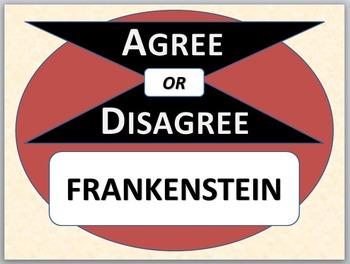Frankenstein - Agree or Disagree Pre-reading activity
