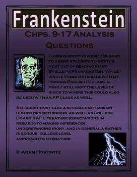Frankenstein Chps. 9-17 Analysis Questions