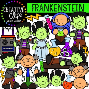 Frankenstein {Creative Clips Digital Clipart}