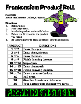 Frankenstein Product Roll - A 2-Player Multiplication Acti